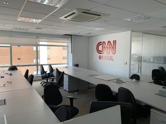 Divulgação da foto do escritório CNN Brasil: ajustes finais (Divulgação)